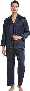 LilySilk 100 Pure Silk Pyjamas for Men Set Long Sleepwear Pyjama Set 16 Momme Mulberry Silk Lightweight Male Pjs-for Gifts...