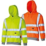 Dickies Unisex HI Vis Hoodie Kapuzenpullover, Orange, XL- Chest 44-46po