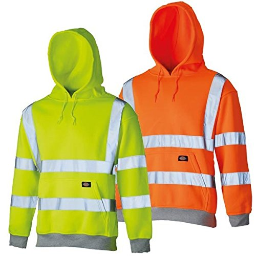 Dickies Unisex HI Vis Hoodie Kapuzenpullover, Orange, L- Chest 41-43po