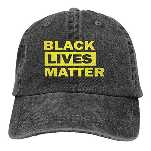 LsjueeGorra para Hombres, Mujeres, Black Lives Matter, Gorra de Jeans Ajustables de algodón para Hombre