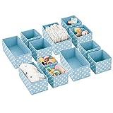 mDesign Juego de 12 Cajas de almacenaje para Cuarto Infantil y baño – Cestas...