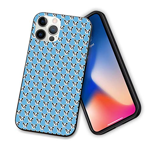 Compatible with iPhone 12 Series Case Abstract and Hipster French Bulldog Heads Funny Puppy Pattern Kids Design Design for iPhone 12 Pro-6.1'