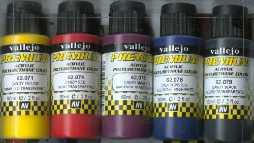 Vallejo 062104 - Farbset, Candy-Farben, 5 x 60 ml