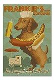 Lantern Press Dachshund - Retro Hotdog Ad 54873 (1000 Piece Premium Jigsaw Puzzle for Adults and Family, 19x27)