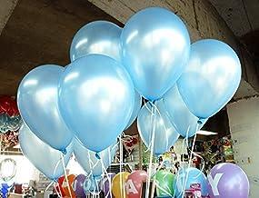 LOKMAN 12 Inch Ultra Thickness Light Blue Latex Balloons, 100 Pieces (Light Blue)