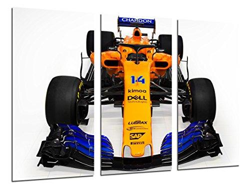 Cuadro Fotográfico Formula 1 Coches,McLaren mcl33Mclaren F12018, Fernando Alonso, Stoffel Vandoorne Tamaño total: 97 x 62 cm XXL