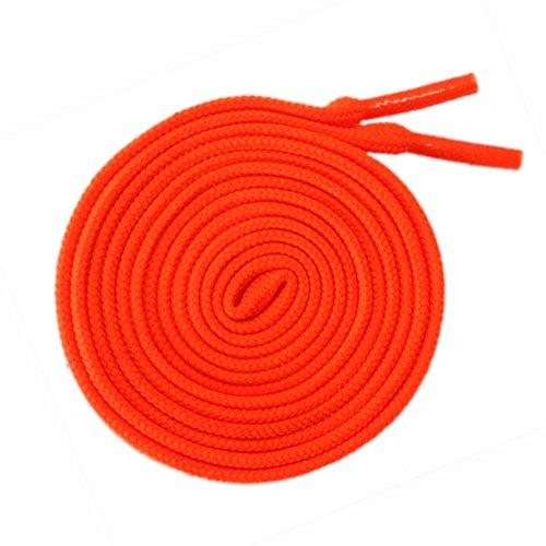 McLaces 1 Paar Schnürsenkel 21 Farben auch Neon ideal für Sneaker und Chucks (neon-rot-orange)