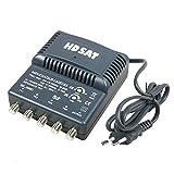 HDSAT AMPLIFICATEUR TNT Blinde 4 Sorties ampli d'intérieur antenne TV 220V