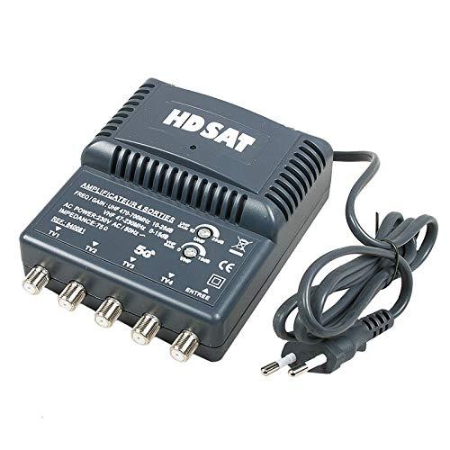 HDSAT AMPLIFICATEUR TNT Blinde 4 Sorties ampli d intérieur antenne TV 220V