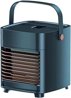LJMG Misting Fan Desktop Cooling Fan Portable Mini Air Conditioner 12v, Small Desktop Cooling Silent Air Conditioner Fan, Bedroom Mobile Cooler USB (Color : Blue, Size : 1716.518.5cm)