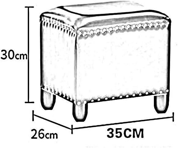 YUMUO Pouf rectangulaire en Similicuir Repose-Pieds Banc de Salon Canapé Maison Chambre Tabouret de Salon (Couleur: # 1, Taille: 40 * 32 * 40cm) 24