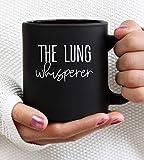 El Pulmón Susurrador. Taza de terapeuta respiratorio terapeuta respiratorio taza rrt rt rt taza – 11oz dos lados