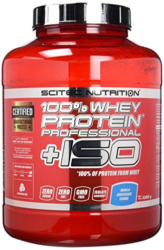 Scitec Nutrition Protein 100% Whey Protein Professional+ISO, Vanille-Käsekuchen, 2280g