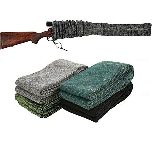 DJDL Extrabreit Gewehrsocke Waffenstrumpf für Langwaffen mit Zielfernrohr, Silikon Behandelt Gewebe, Gewehr Lufgewehr Aufbewahrung Schutzhülle 54 Zoll Länge 4 Pack