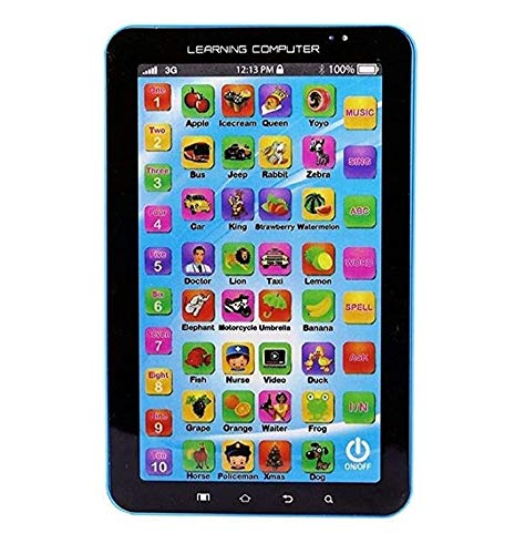 abhik enterprises p1000 educational learning computer tablet for boys and girls (up to 3 years of age)-Multi color