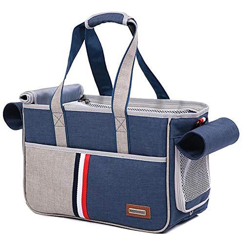 Pet Holder Bag Portable Dog Cat Handbag Outdoor Soft Sided Pet Shoulder Bag Foldable Travel Tote,under Seat Pet Travel Carrier,L