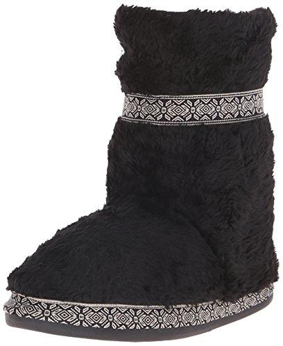 Woolrich Women's Whitecap Boot Slipper, Black, 7 M US