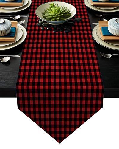 Coner Modern Rooster Tafelloper Decoratie Feestdagen Bruiloft Tafelloper Klein Dressoir Sjaal Picknick Diner Dineren, 46x183cm