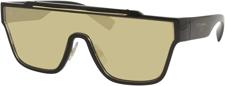 Dolce&Gabbana DG6125 Sunglasses 501/03-35 -, Clear Mirror Real Yellow Gold DG6125-501-03-35