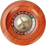 YIJIN Ruleta Rusa, Ruleta De 12 Pulgadas, Ruleta para Juegos De Fiesta, Ruleta De Madera, Ruleta Adecuada para Casinos y Salas De Juego