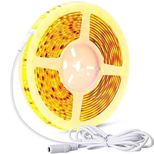 LED Stripes 5m(16ft), Bettlicht, LED Streifen mit Bewegungsmelder Emotionlite Bewegungsaktivierte Dekorative Lichtband,Lichtleiste, Zeitverstellbar, Warme Gelbliche Farbe