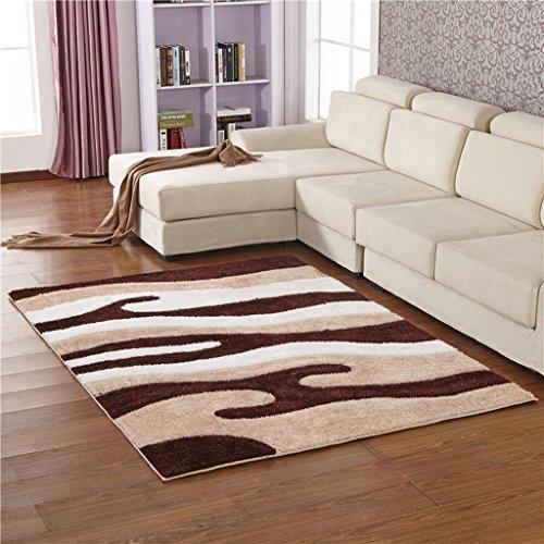 CXSM Europäische minimalistische Moderne Verschlüsselung elastischen Seidenteppich Wohnzimmer Sofa Teppich Schlafzimmer Matratze Rechteck (größe : 120cm*170cm)