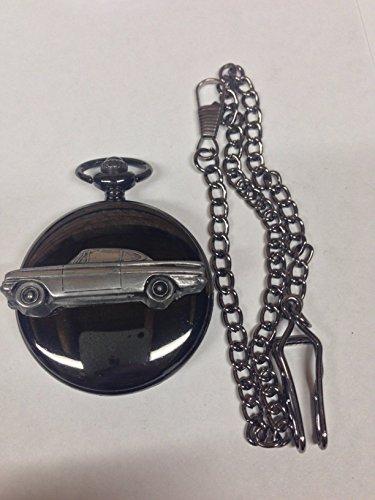Ford Classic Capri ref75Zinn Effekt Emblem poliert schwarz Fall Herren Geschenk Quarz Taschenuhr hergestellt in Sheffield