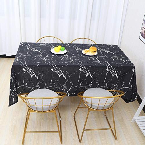 Outdoor tafelkledenLinnen Tafelkleed Chic Marmer Patroon Print Multifunctionele Rechthoek Tafelkleed Thuis Keuken Decoratie