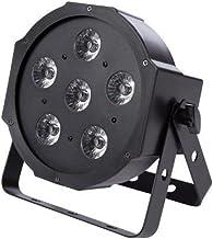 HQ-Power Par-6 X 3 W UV LED, Plastic, 2G7, 20 W, Black, 25 x 24 x 15 cm