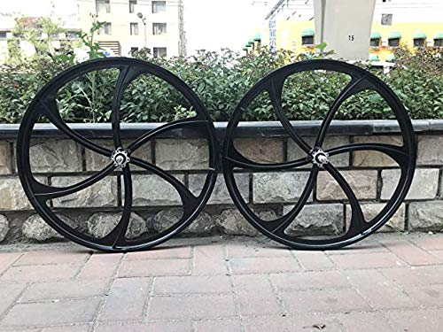 "26"" Mag Wheel Set/ 26 Inch Magnesium Wheels/Black/Disc Brake and Caliper Brake - for Beach Cruisers, MTB's, and Gas Powered Bicycles"