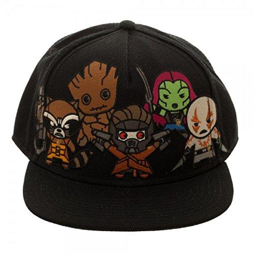 BIOWORLD Marvel Comics Kawaii Guardians of the Galaxy Snapback Hat c067304b7949