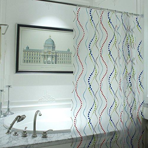 chenyu Rideau de douche Liner Heavy Duty 100% EVA rideau de salle de bain 180 x 180 cm étanche Mildew-resistant antibactérien Crochets de rideau de douche avec 12 anneaux