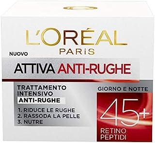 L'Oréal Paris Crema Viso Anti-Rughe Attiva 45+, 50ml