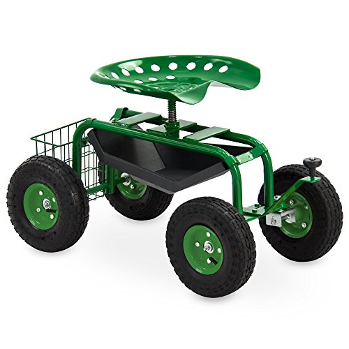 Best Choice Products Mobile Rolling Garden Work Seat