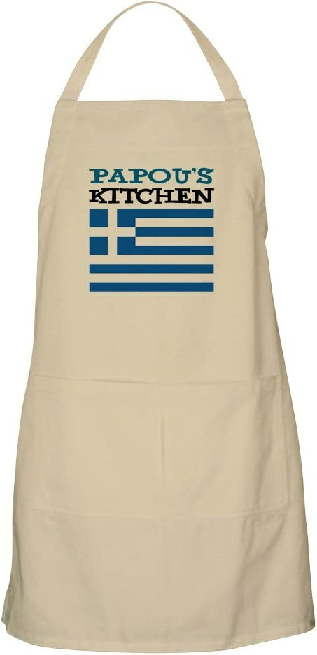 CafePress Papou's Kitchen trust Apron Pockets New product! New type with A Grilling