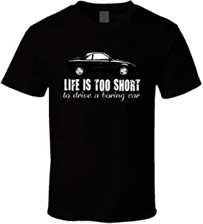 1985 Toyota Mr2 Mk1 B and W Life is Too Short Car Lover t Shirt for Men