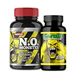 ⧫Nitric Oxide and T Stack! by Colossal Labs | Powerful Pumps and Enhance Muscle Gains | Supports Recovery, Strength, boosts T Levels & Focus. Two (2) Bottles
