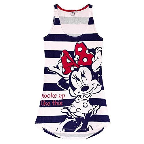 Nachthemd für Damen Disney Minnie Maus aus aus Baumwolle bedruckt 3227, Blau S