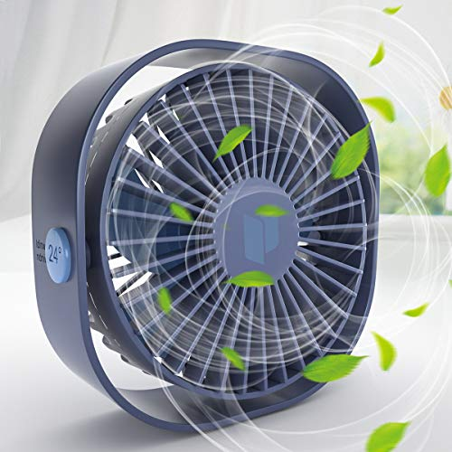 Renfox USB Ventilator, Handventilator Ventilator Klein PC Ventilator USB Mini Ventilator 3 Geschwindigkeiten, USB Lüfter Geräuscharm, USB Fan Einfach zu Tragen, für Büro, Zuhause und im Freien