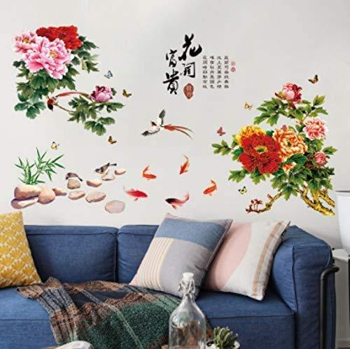 Blumen Bloom Rich Wohnzimmer Schlafzimmer Veranda Esszimmer Arbeitszimmer Kleiderschrank Tv Hintergrund Pvc Wandaufkleber 60-90Cm