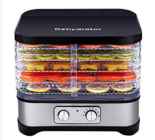 Find Discount Food Dehydrator, Multifunctional 5-Layer Food Dryer Food Processor 8-Level Temperature...