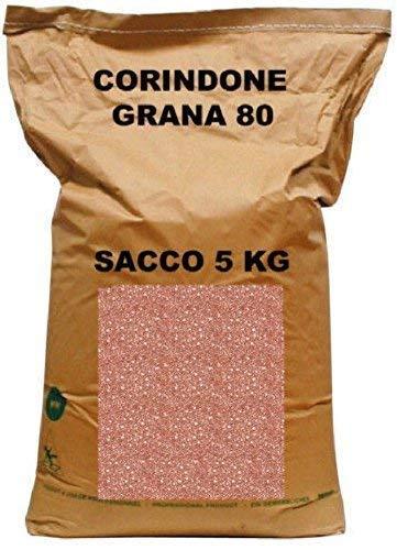 CORINDONE ROSSO/BRUNO ALL'OSSIDO D'ALLUMINIO PER SABBIATRICE GRANA 80 SACCO DA 5 KG