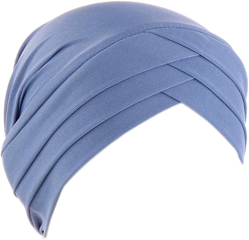 Fxhixiy Hijab Chemo Cancer Beanies Turbans Hats Cap Twisted Hair Cover Headwrap Turban Headwear for Women