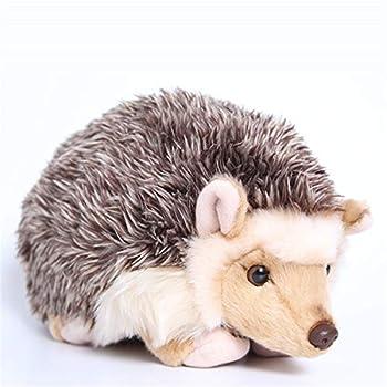 TAMMYFLYFLY Lifelike Hedgehog Plush Stuffed Animal Toy Desert Hedgehog Cute Animal Model  6 inches