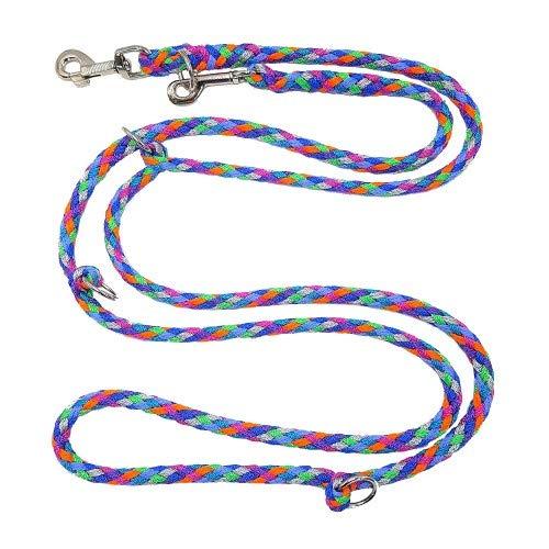 elropet Hundeleine Doppelleine Übungsleine Führleine für mittlere Hunde bis 45 Kg über 39 Farben sehr stabil (3,50 m, Florida)