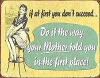 ヴィンテージの複製サイン最初のママの場合ティンサイン-ヴィンテージマンケイブガレージサインバーサインメタルウォールティンサインウォールアートシンボルポインターデカールメタルサイン