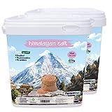 Nortembio Sal Rosa del Himalaya 2x6,6 Kg Fina (1-2 mm). 100% Natural. Sin Refinar. Sin Conservantes. Extraída a Mano.