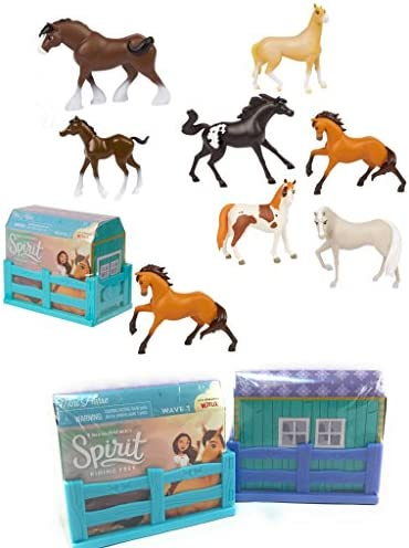 JP New Collectible Set of 2 DreamWorks Spirit Riding Free Mini Horse Figures Blind Box Realistic product image