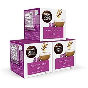 Nescafé DOLCE GUSTO té CHAI TEA LATTE - Pack de 3 x 16 cápsulas - Total: 48 Cápsulas té