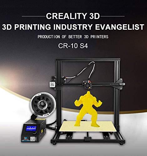 Imprimante 3D officielle Creality 3D CR-10S4 avec écran tactile et écran autonivelant, détecteur de filament, vis de filetage pour axe Z, kit de montage rapide, impression 700 * 690 * 610 mm
